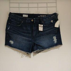 GAP denim distressed shorts